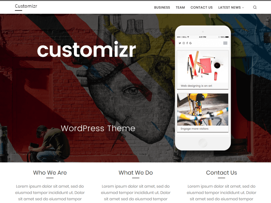 customizr free wordpress business theme
