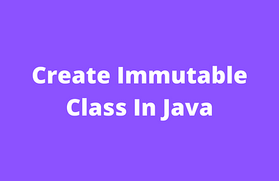 immutable class in java