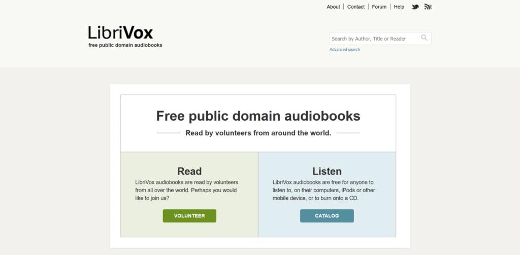 LibriVox for free ebooks download