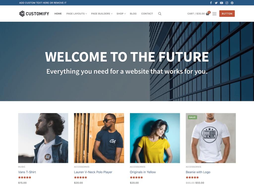 Customify free wordpress business theme