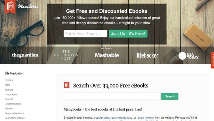 manybooks for free ebooks download