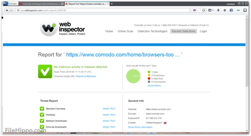 Comodo IceDragon Web Browser