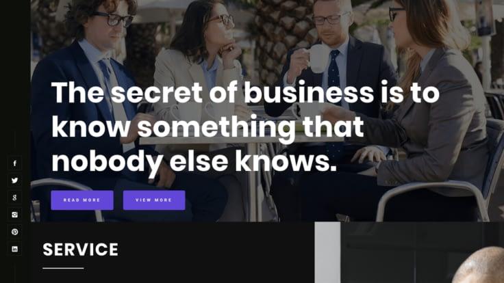 Business Startup free wordpress business theme